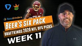 DRAFTKINGS NFL 2020 WEEK 11 PICKS | The Daily Fantasy 6 Pack