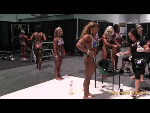 2015 IFBB Olympia: Women's Physique Backstage Pump Up Room Video