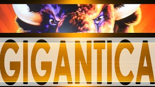 ★★ JACKPOT ★★ DOUBLE FEATURE BONUS - ARISTOCRAT SLOT MACHINE - BUFFALO GIGANTICA