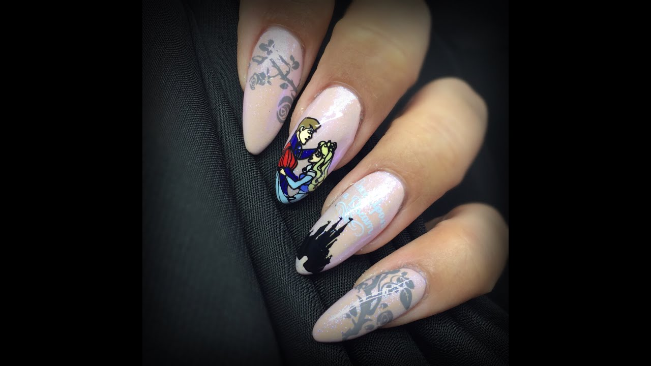 Sleeping Beauty Nails: Heroes & Villains Collab With NonaPhilippa