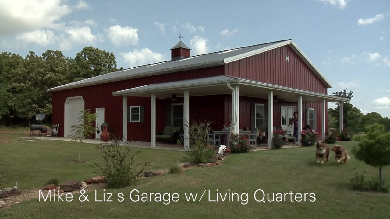 Mike liz 39 s garage w living quarters youtube for 2 story metal buildings with living quarters