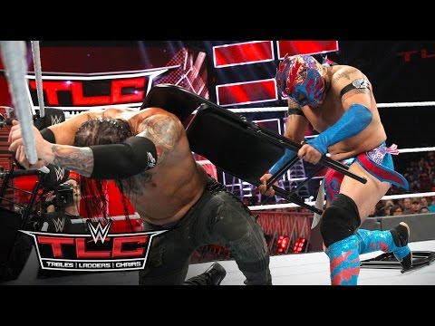 Kalisto relies on steel chairs to cut Baron Corbin down to size: WWE TLC 2016