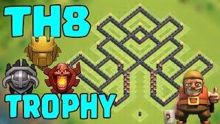 "TH8 ""INSANE"" Trophy Base [Clash Of Clans] Pushing Master/CHAMP/Titan League | COC BEST Design"