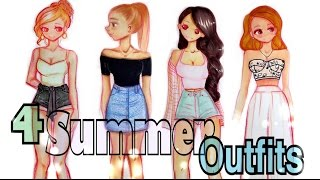 😍 DRAWING 4 SUMMER OUTFITS👗 👌