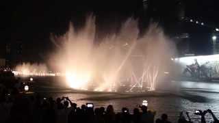 The Dubai Fountain - Michael Jackson - Thriller - September 14, 2014