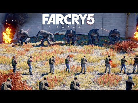 FAR CRY 5 - 10 YETIS vs 200 SOLDIERS (Arcade Editor) @ 1440p ✔