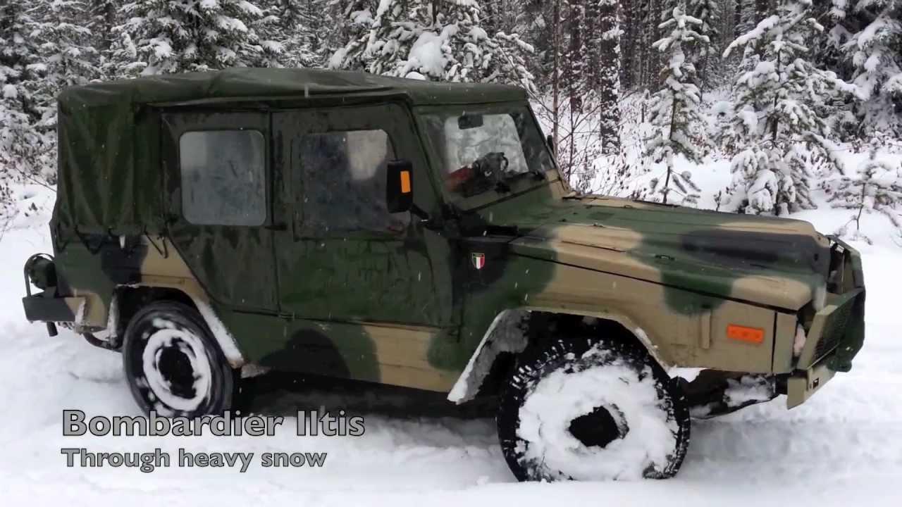 Bombardier Iltis through heavy snow
