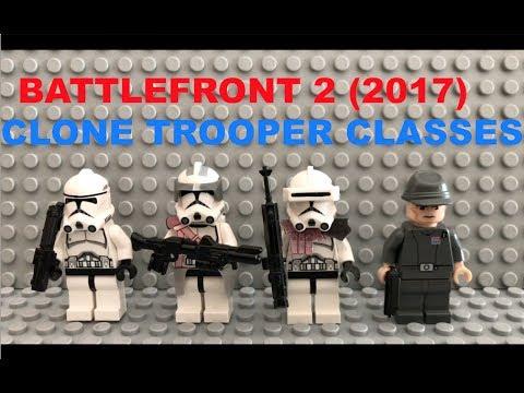 Lego Star Wars Battlefront 2 EA 2017 Clone Trooper Classes - YouTube
