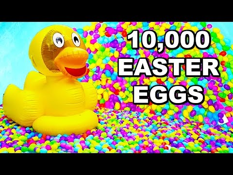 POOL FILLED WITH 10,000 EASTER EGGS!!! KKandbabyJ EASTER SPECIAL