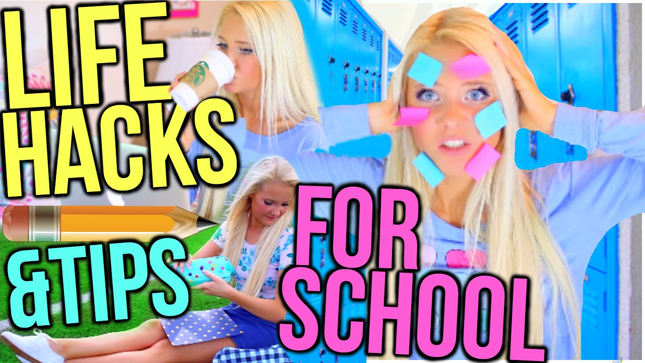 Life Hacks For Back To School! + Study Tips For School