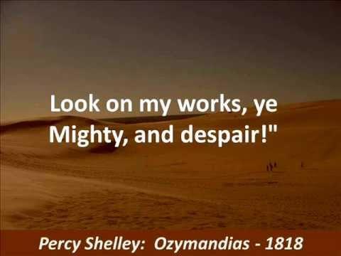ผลการค้นหารูปภาพสำหรับ lord byron look on my work ozymandias ye mighty and despair