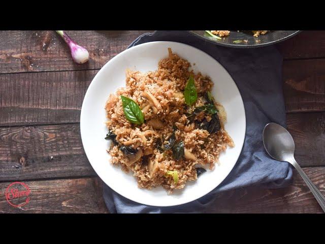 Mushroom Basil Fried Rice | Veg Recipes | Slurrp