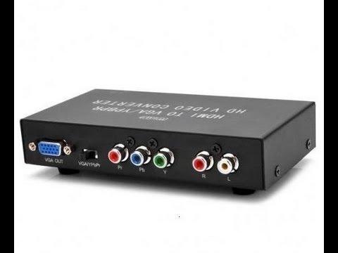 Conversor Hdmi Para Vga Ypbpr V 237 Deo Componente Digital