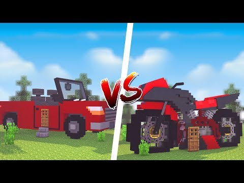 Minecraft: CASA DE CARRO VS. CASA DE MOTO  ‹ JUAUM ›