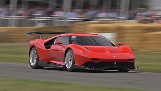One Off Ferrari P80/C @ FOS Goodwood! Revs, Burnout, Accelerations!