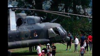 ¿Por qué y con el permiso de quién aterrizó un helicóptero militar en Ciudad Perdida?