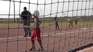 7 year old plays 8u softball