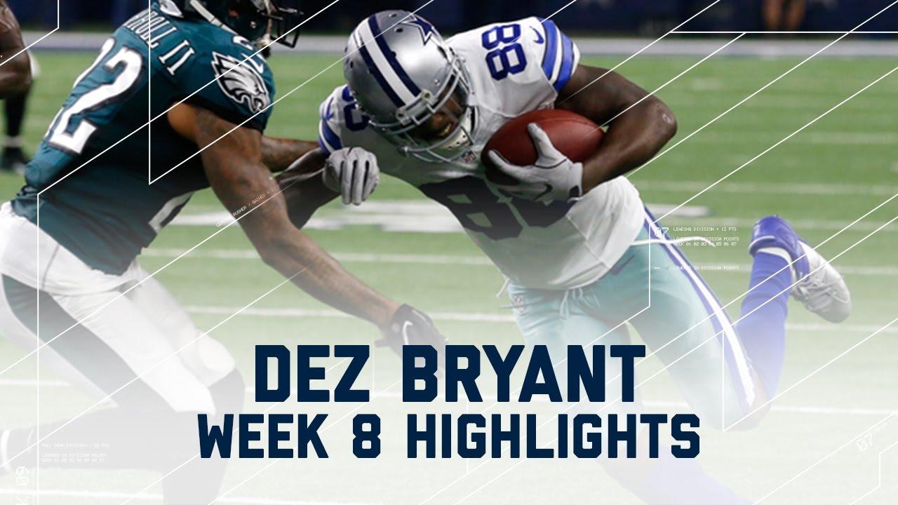 Dez Bryant Snags 113 Yards 1 Td Eagles Vs Cowboys Nfl Week 8 Player Highlights