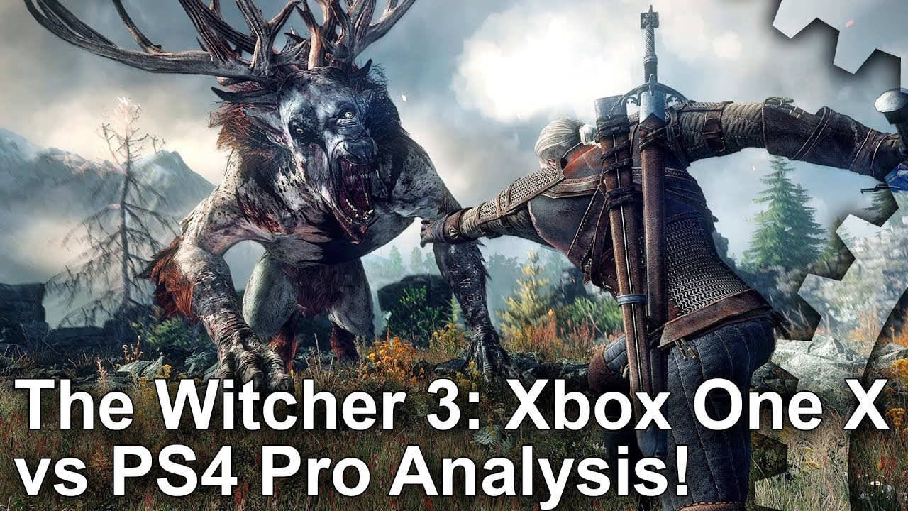 4k the witcher 3 xbox one x vs ps4 pro graphics. Black Bedroom Furniture Sets. Home Design Ideas