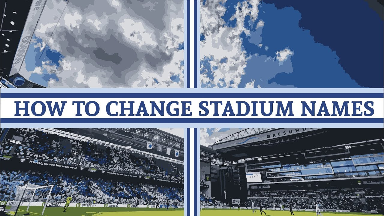 Changing stadium and player names in Football Manager
