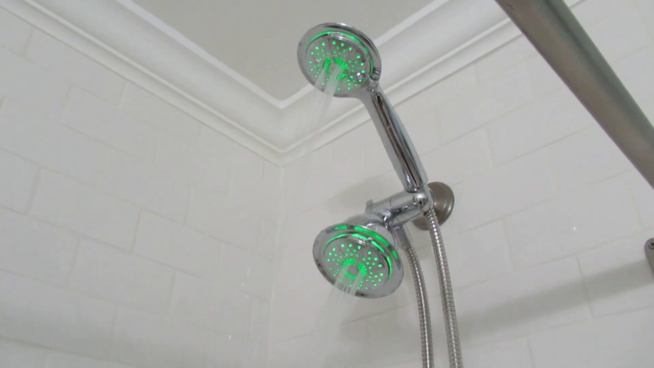 Dream Spa 4 Spray Shower Head with LED - YouTube