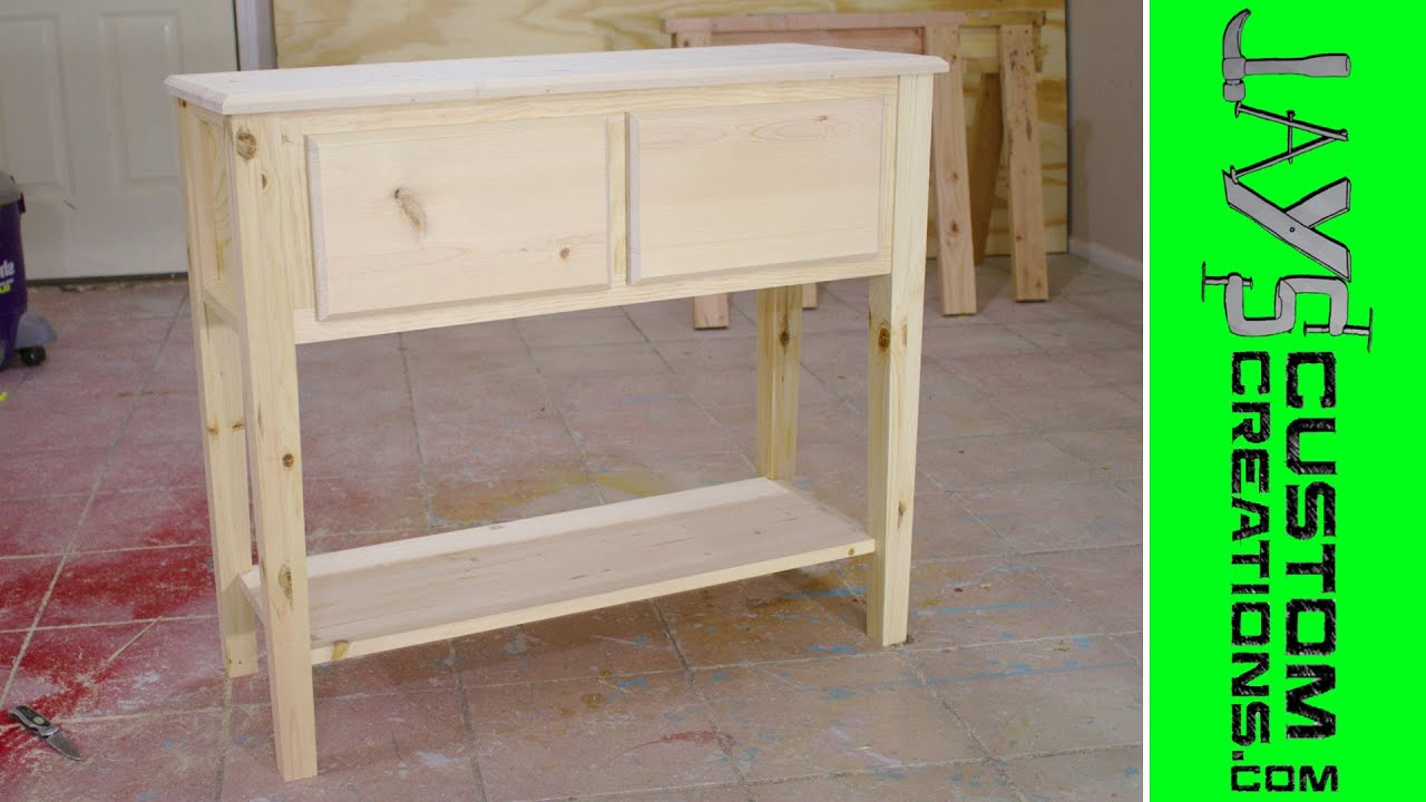 Pocket Hole Sofa Table YouTube - What is a sofa table