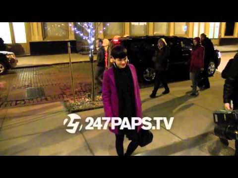 Jessie J arriving back to her soho hotel in nyc