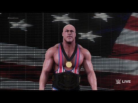WWE 2k18 - Brock Lesnar vs Kurt Angle | Ironman Match (Undisputed Championship)  (1080p 60fps)