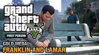 GTA 5 - Intro & Mission #1 - Franklin and Lamar [First Person Gold Medal Guide - PS4]