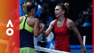 A look back at simona halep and angelique kerber's epic australian open sf.
