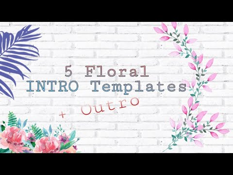 intro outro floral template youtube. Black Bedroom Furniture Sets. Home Design Ideas