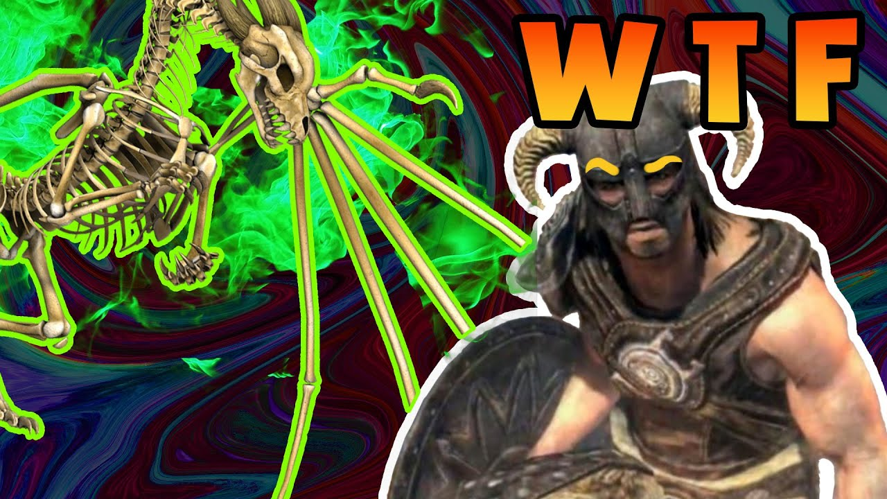 Skyrim Dragon Skeleton Glitch Amp More Youtube