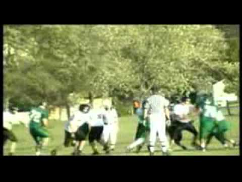 Dj Frisby-James Wood Middle School 13 Year Old RunningBack Highlight with Music.avi
