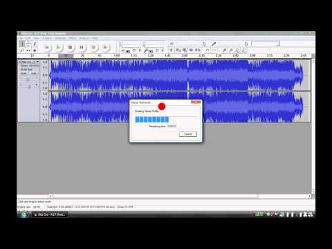 Remove the instruments from an audio file with AUDACITY v1.2.6