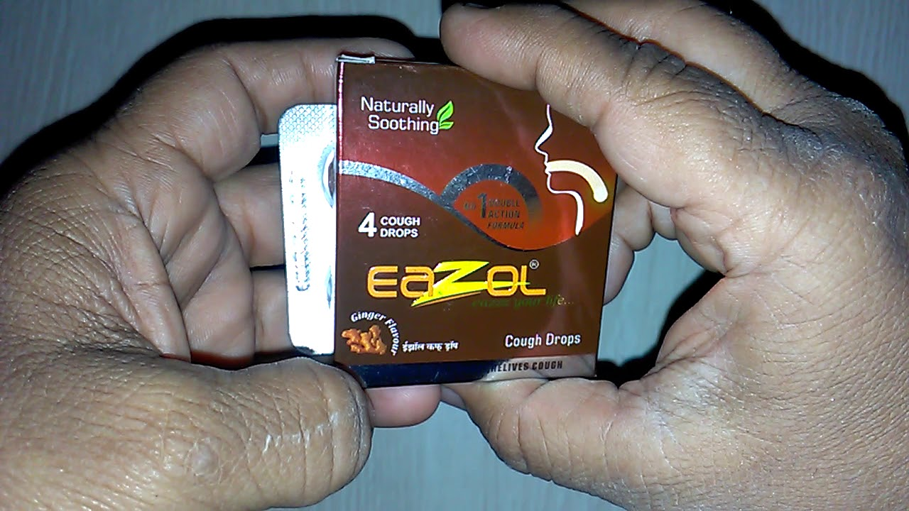 Eazol Cough Lozenges गल क खर श क आय र व द क इल ज Eazol Herbal Cough Drops Review In Hindi Youtube