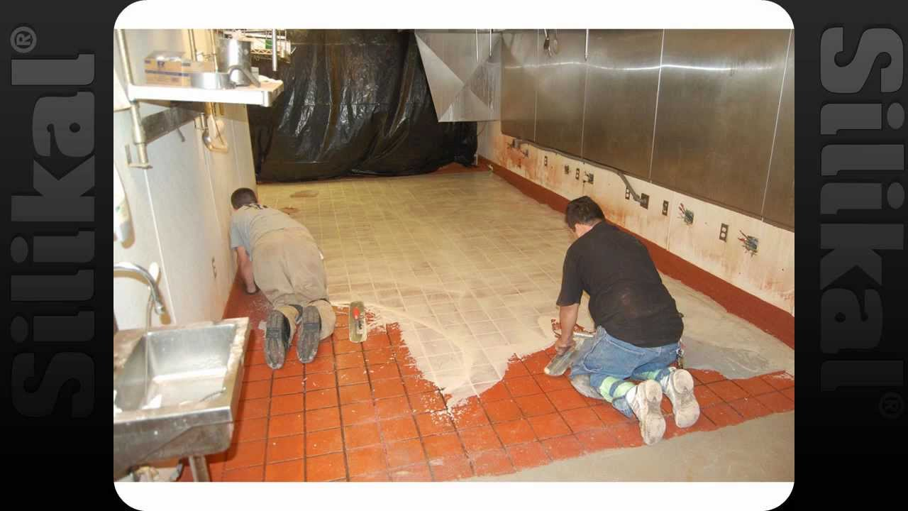 Epoxy Floor Kitchen Kfc Overnight Over Tile Floor Coating Silikal Youtube