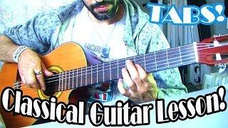 ~Habanera~ (Caramba) Classical Guitar Lesson! -P1-