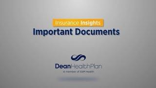 Important Health Insurance Documents - Dean 101