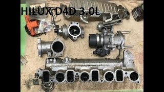 Hilux EGR and manifold clean. Inlet port clean.