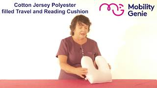Cotton Jersey Polyester filled Travel and Reading Cushion | Mobility Genie