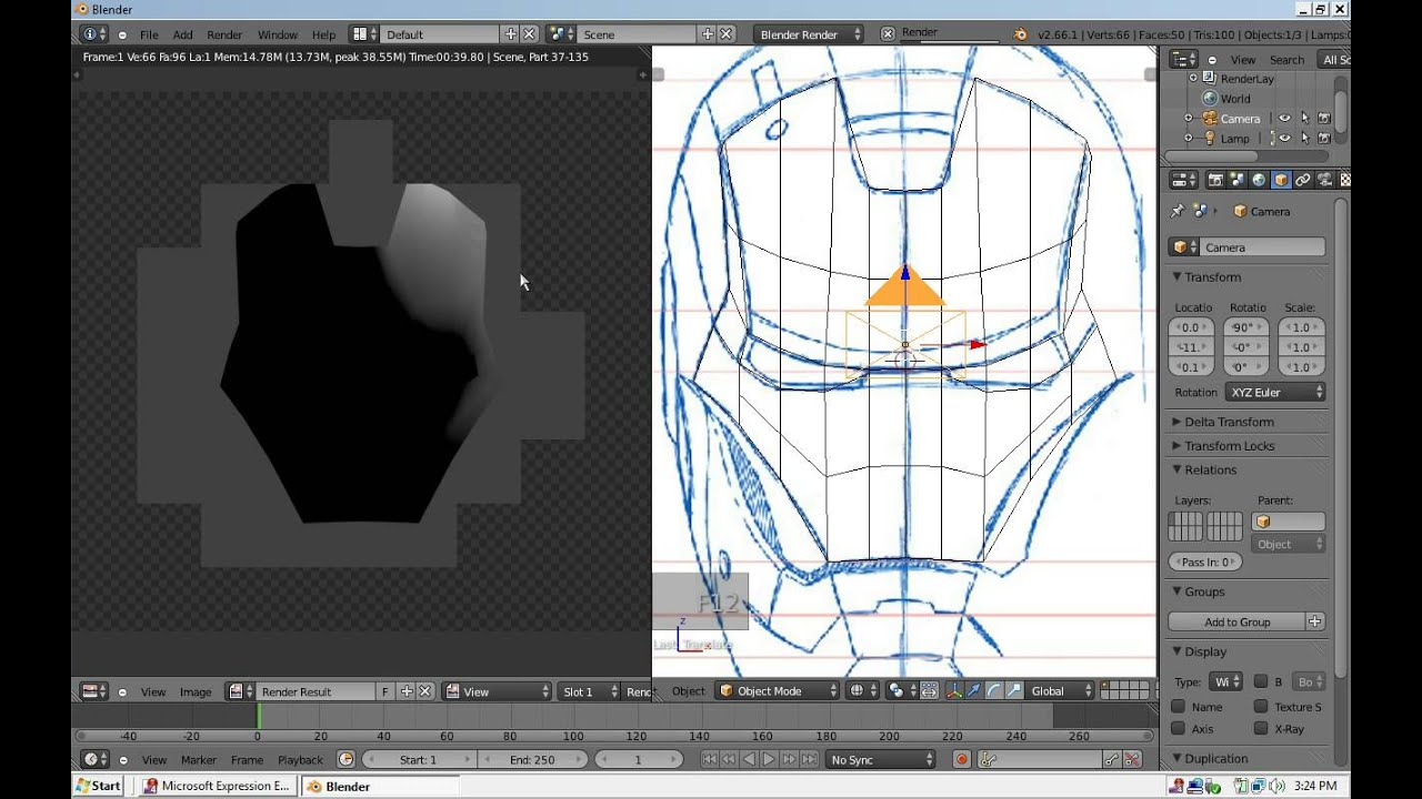 How to make an iron man helmet in blender youtube how to make an iron man helmet in blender malvernweather Images