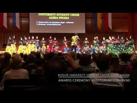 Bogor Agricultural Univ. Student Choir Agria Swara. Awards Ceremony. Montreux Choral Festival (5)