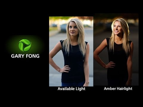 Outdoor Glamour Photography - Lighting with Amber Hairlight