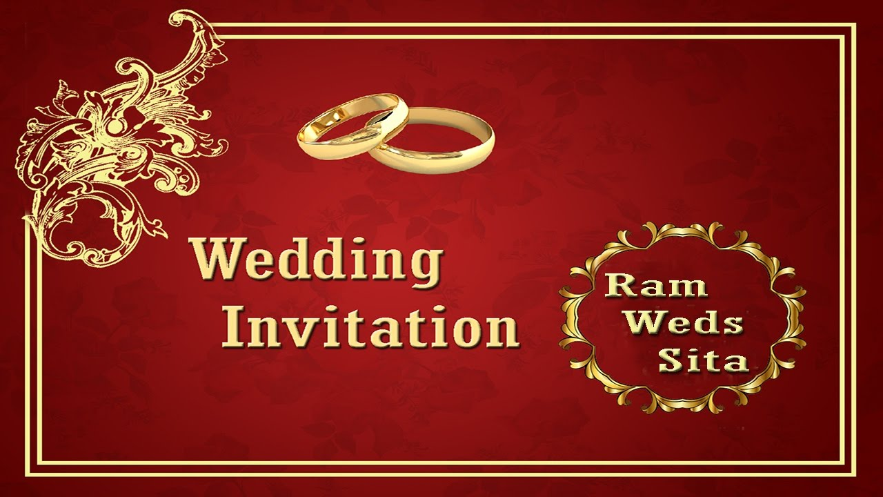 How to create a Wedding Invitation Card Front Page in Photoshop ...