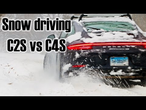 Snow Driving Porsche 911 C2S And C4S