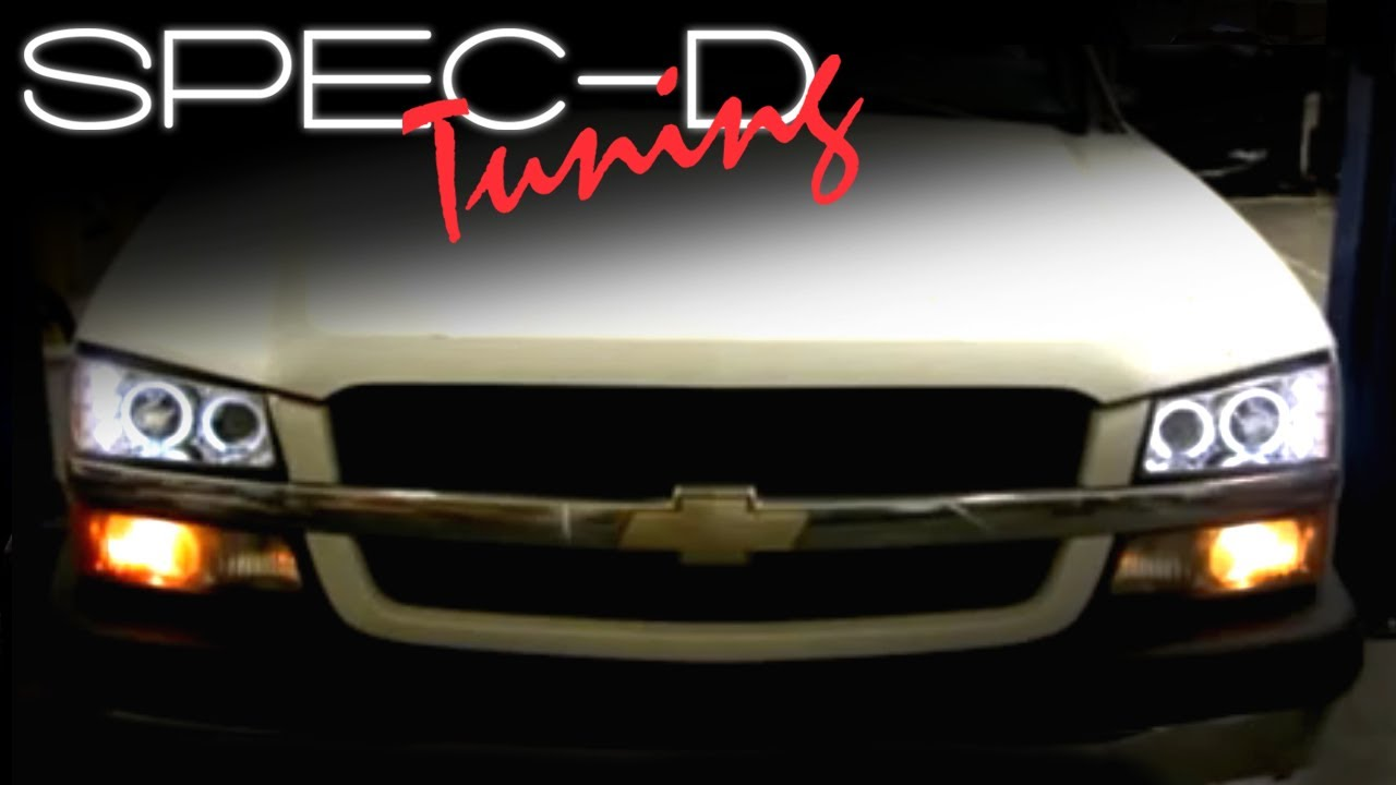 SPECDTUNING INSTALLATION VIDEO: 2003-2006 CHEVY SILVERADO HEAD LIGHTS on