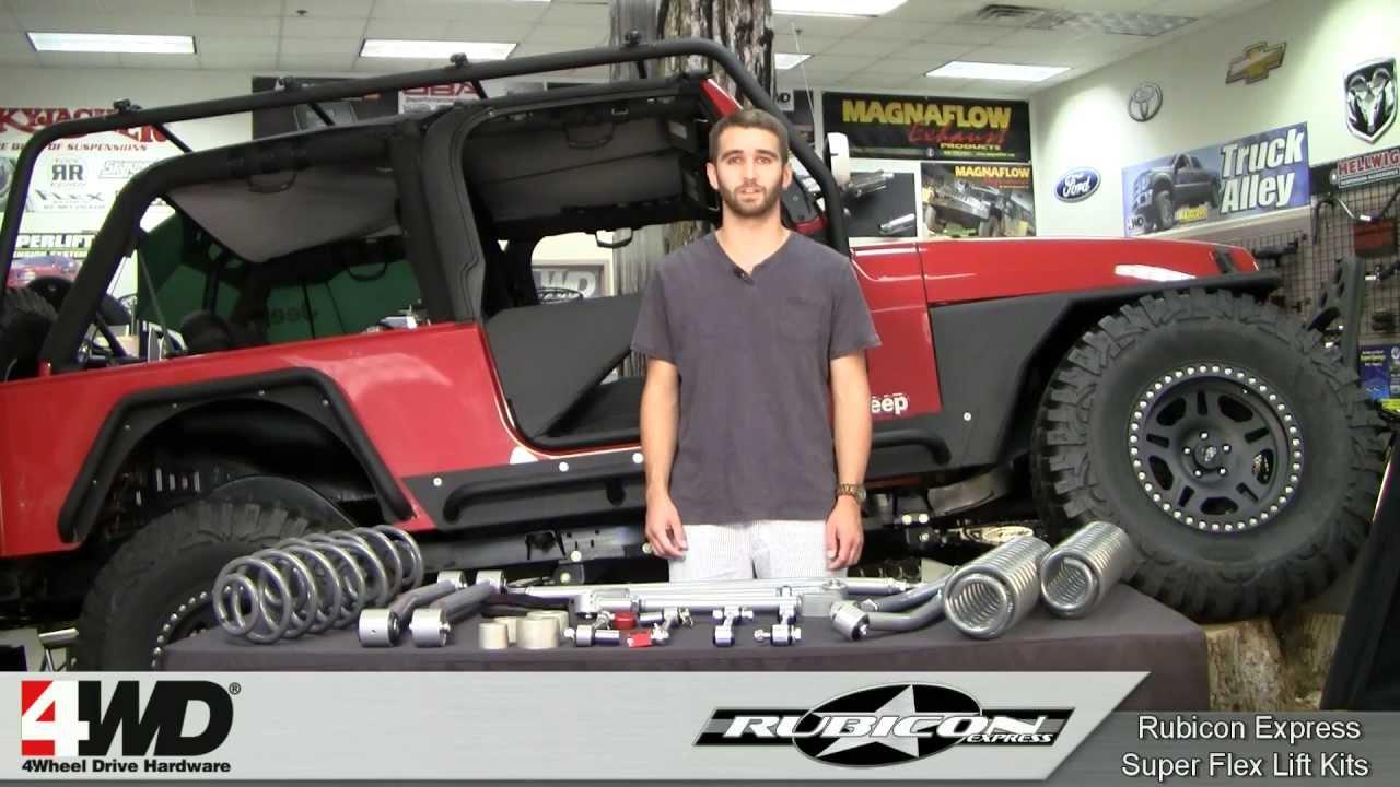 Rubicon Express  35  45 inch Superflex Lift Kit for Jeep JK
