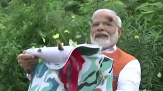 PM Narendra Modi releases Butterflies at Narmada Butterfly Park near Statue of Unity in Gujarat