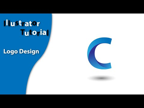 Illustrator tutorial, How to design a letter logo using adobe illustrator CC thumbnail