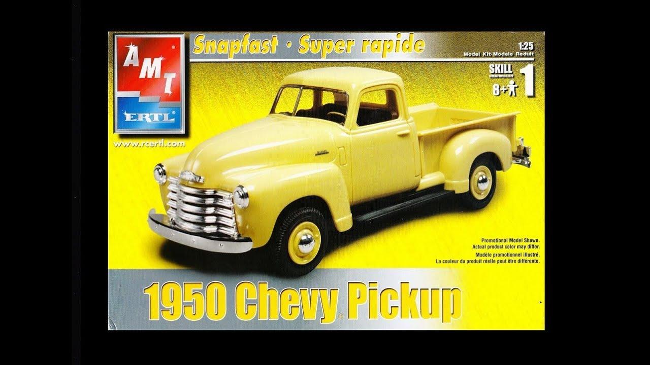 AMT 1//25 1950 Chevrolet 3100 Pickup Build 2 Ways Union 76 PLASTIC MODEL KIT 1076
